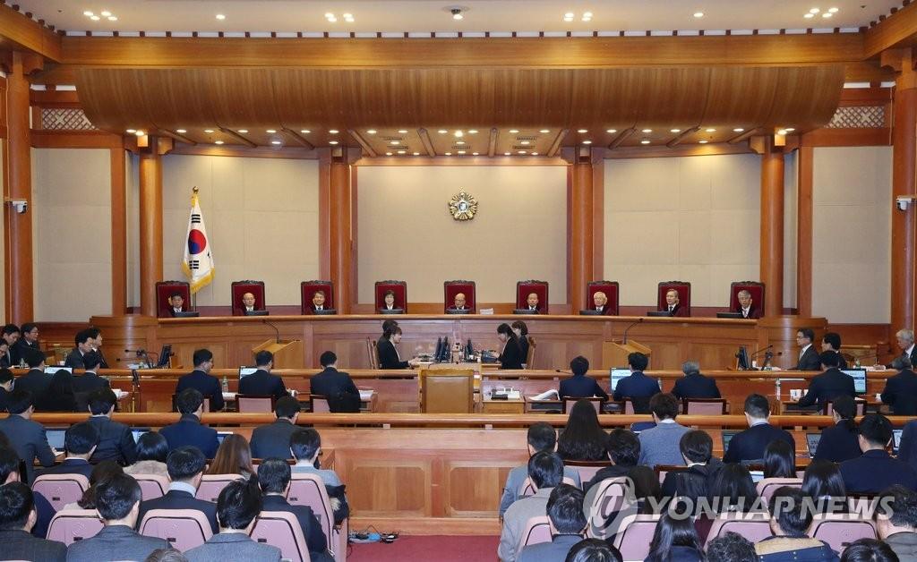 弹劾案开庭朴槿惠缺席