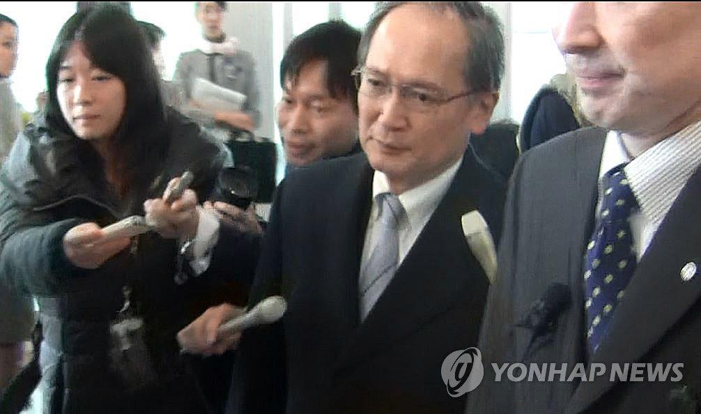 日本驻韩大使归国
