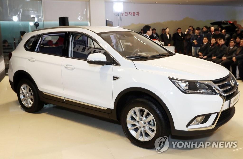 北汽银翔SUV在韩面市