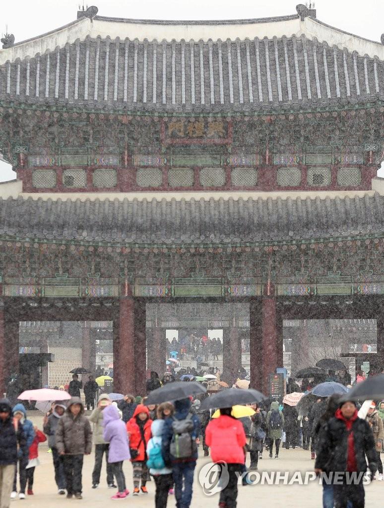 雪中游景福宫