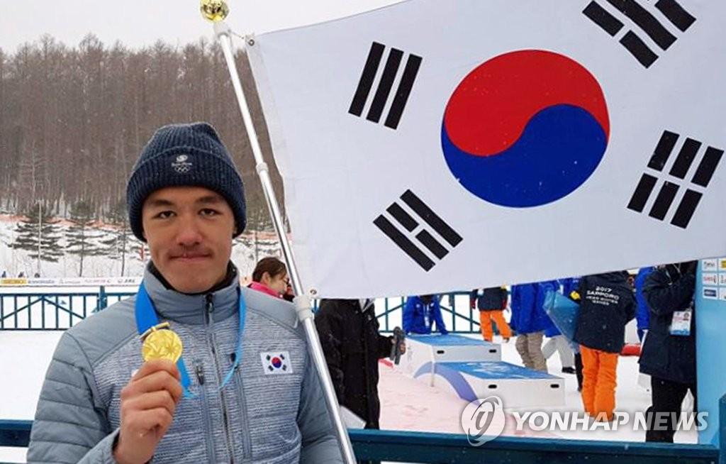 金芒努斯为韩摘亚运男子越野滑雪首金
