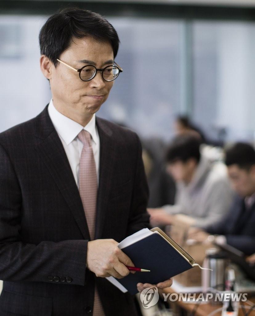 2月23日下午,在位于首尔江南区的独检组办公室,独检组新闻发言人李圭喆召开记者会。(韩联社)