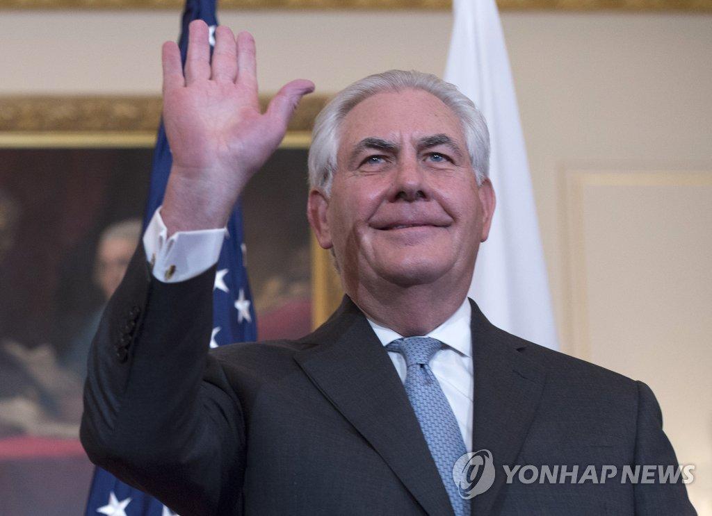 美国务卿蒂勒森17日访韩商讨萨德问题