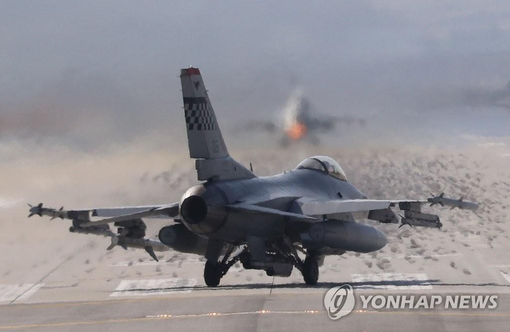 F-16战斗机起飞发散威慑力