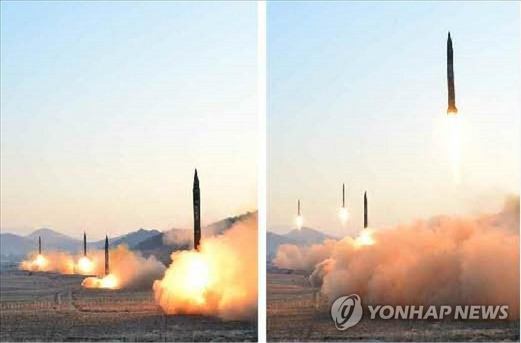 朝鲜公开射弹现场图片