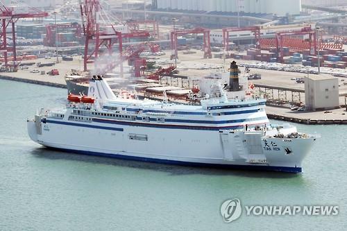 韩国仁川至中国渡轮客运量呈恢复之势