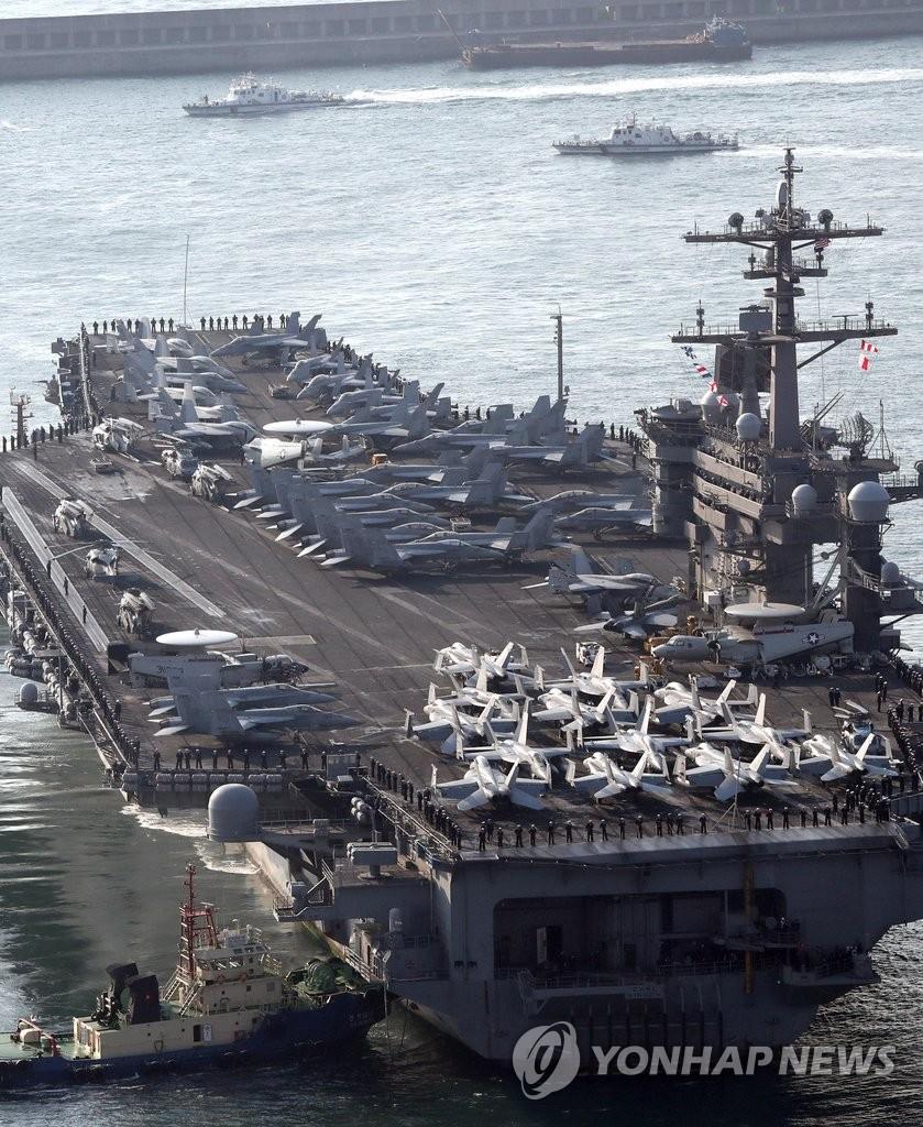 美核航母再入半岛海域牵制朝鲜挑衅