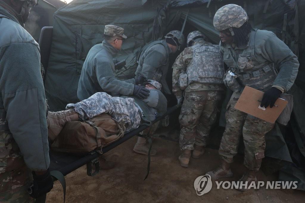 韩美联合医疗应急演练
