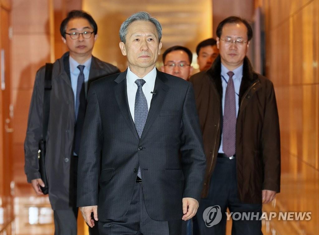 韩国安室长启程访美