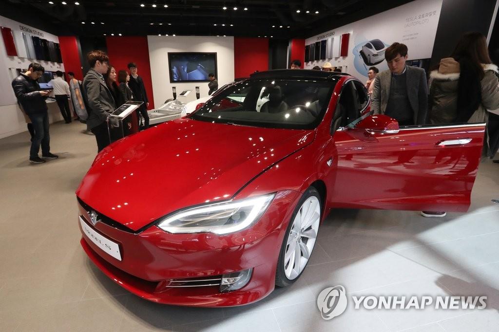 电动车特斯拉登陆韩国