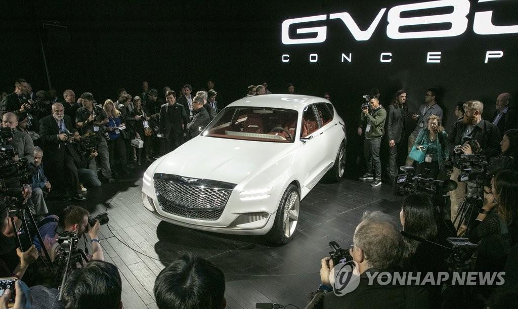 """捷恩斯SUV""""GV80""""亮相纽约车展"""