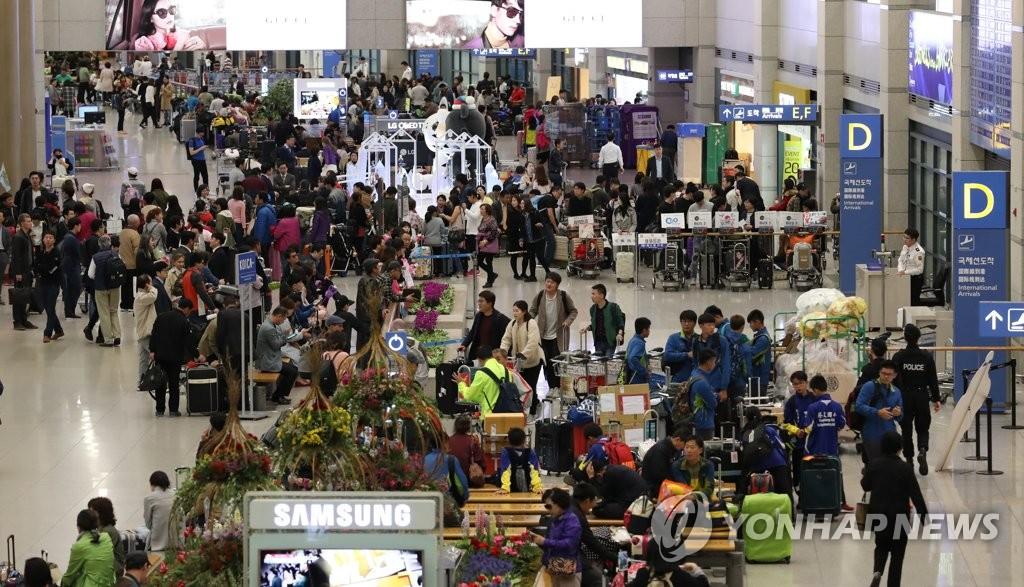 统计:3月来韩中国人环比减38%