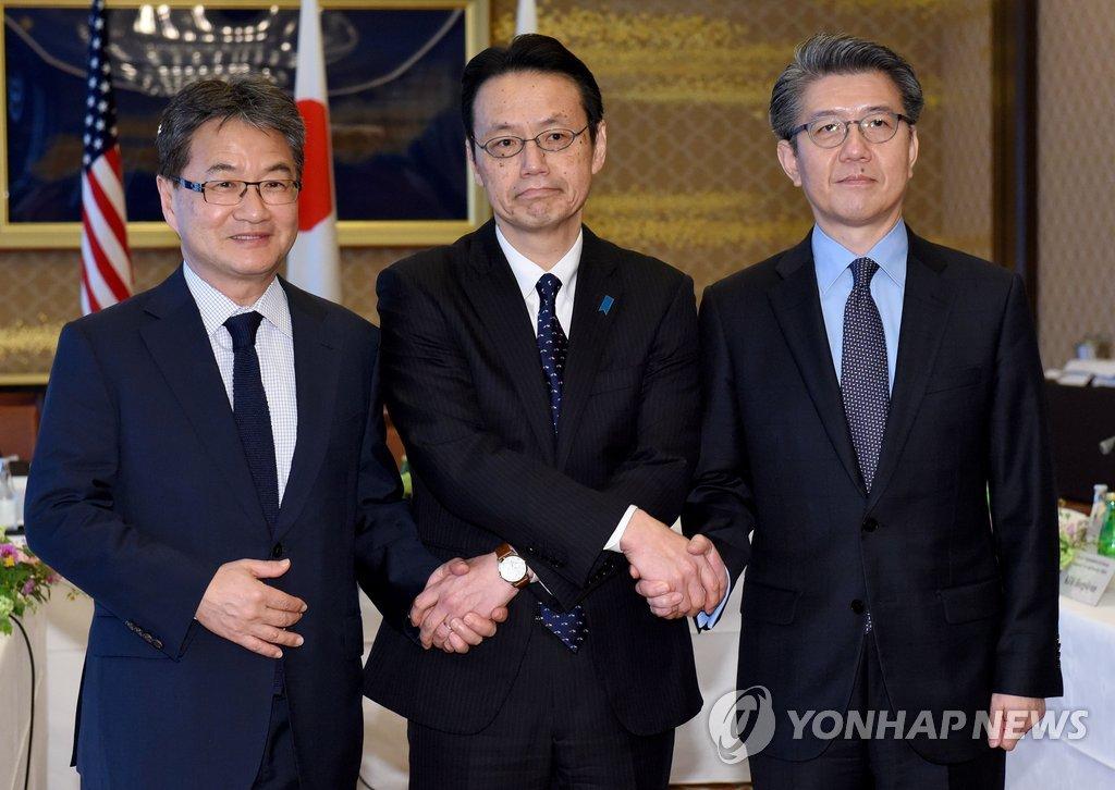 六方会谈韩美日团长商定将强力惩戒朝鲜新挑衅