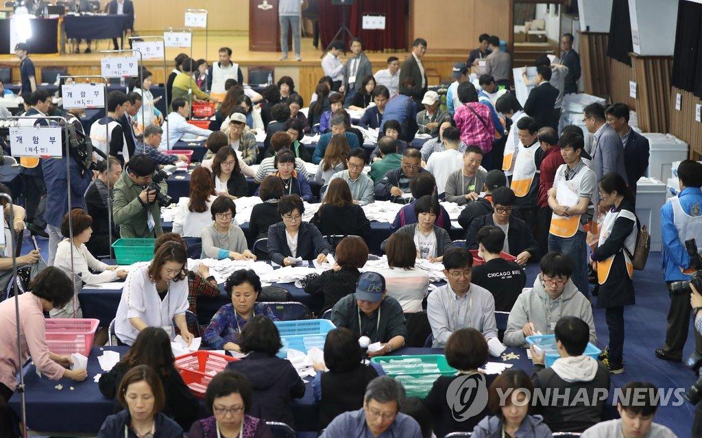 韩大选计票工作启动