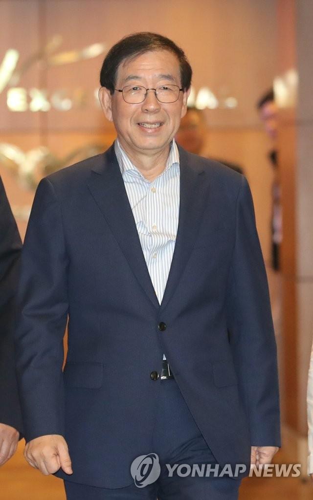韩总统特使朴元淳启程赴菲