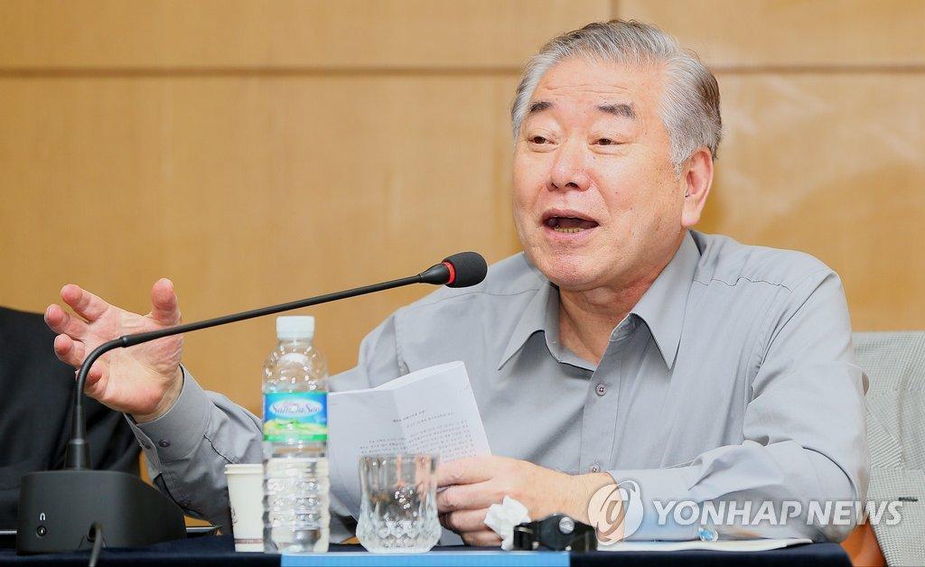 资料图片:文正仁(韩联社)
