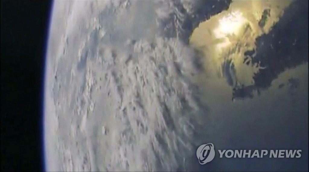 """朝""""北极星2""""发射视频画面"""