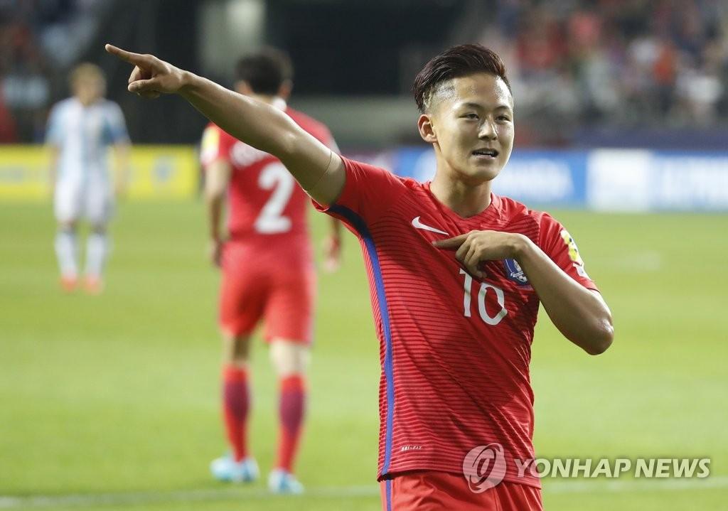 韩国队率先破门