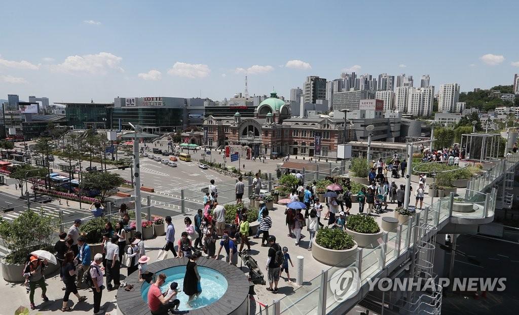 """高架步行街""""首尔路7017"""""""