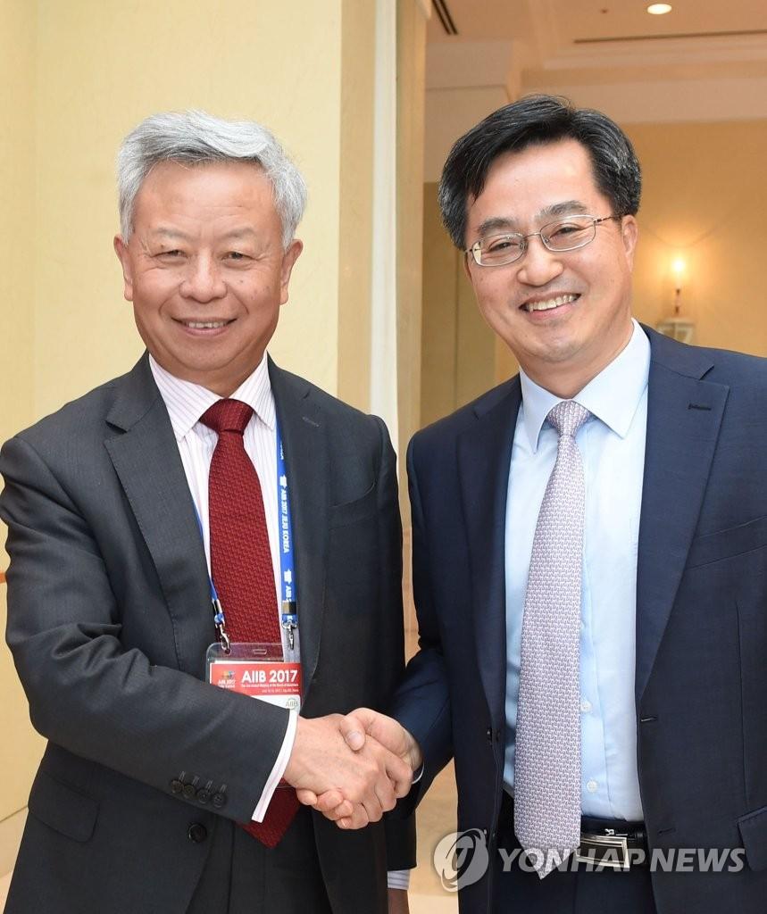 韩财长会亚投行行长