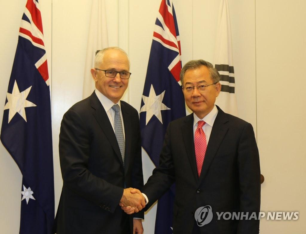 韩总统特使拜会澳总理