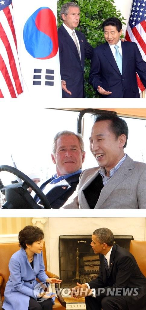 韩美首脑历次会晤