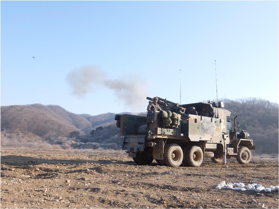 新型105毫米自行榴弹炮(韩联社/防卫事业厅提供)