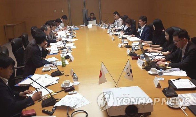 6月29日,第19次韩日环境合作联合委员会会议在日本茨城县筑波国际会议场举行。(韩联社)