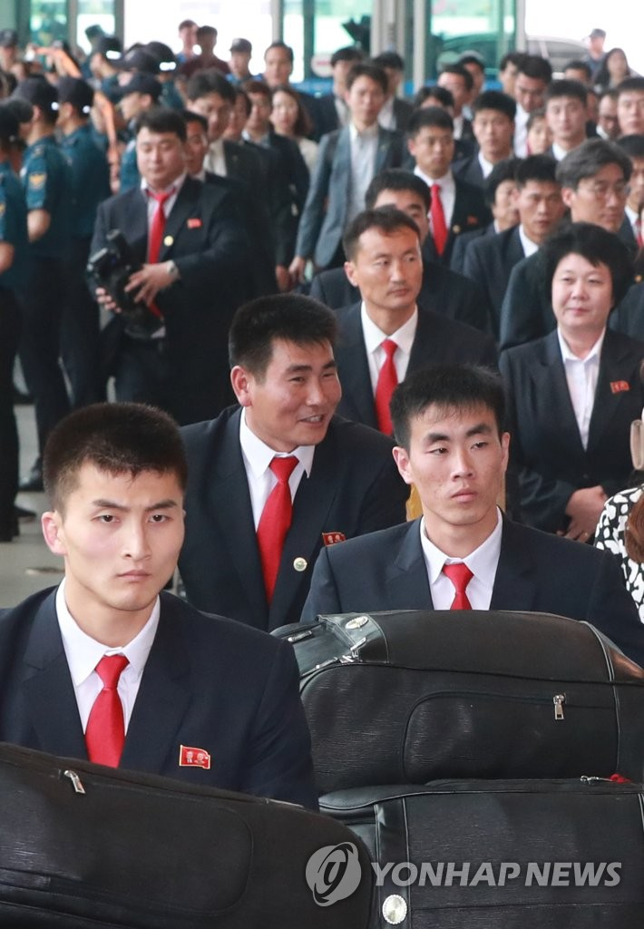 朝跆拳道示范团启程返回朝鲜