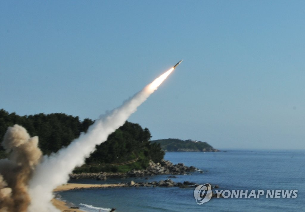 韩美实施导弹拦截演习