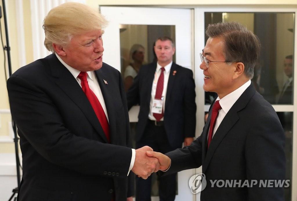 韩美首脑再聚