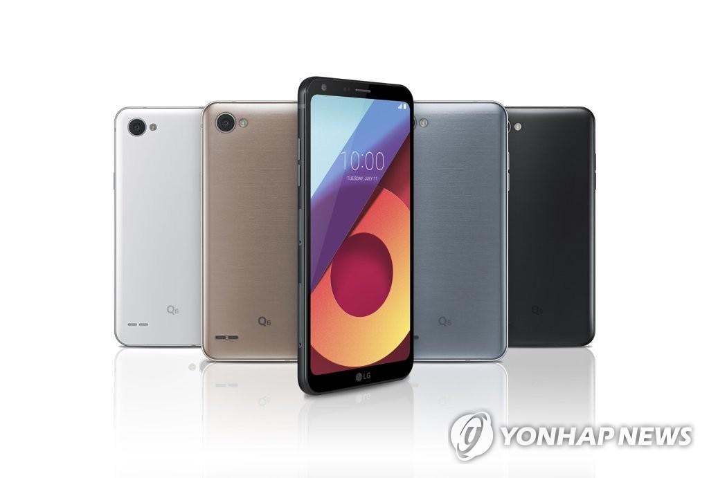 """LG电子新旗舰""""Q6""""(韩联社/LG电子提供)"""