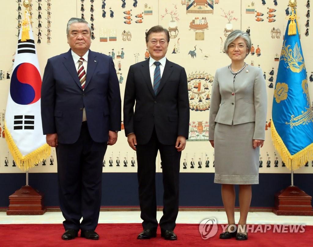 乌兹别克斯坦驻韩大使递交国书