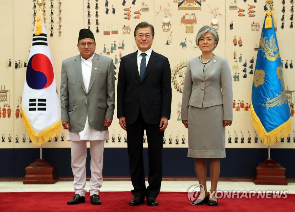 尼泊尔大使致韩总统国书
