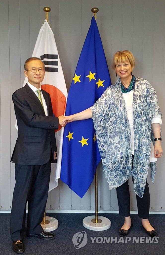 韩副外长访问欧盟