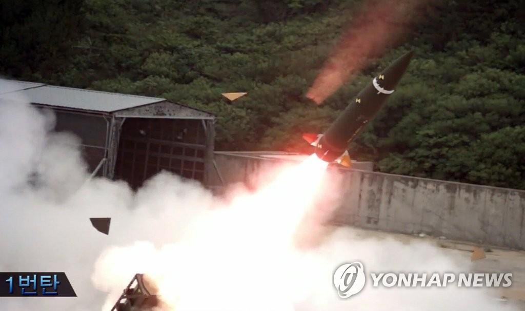 韩军新型弹道导弹