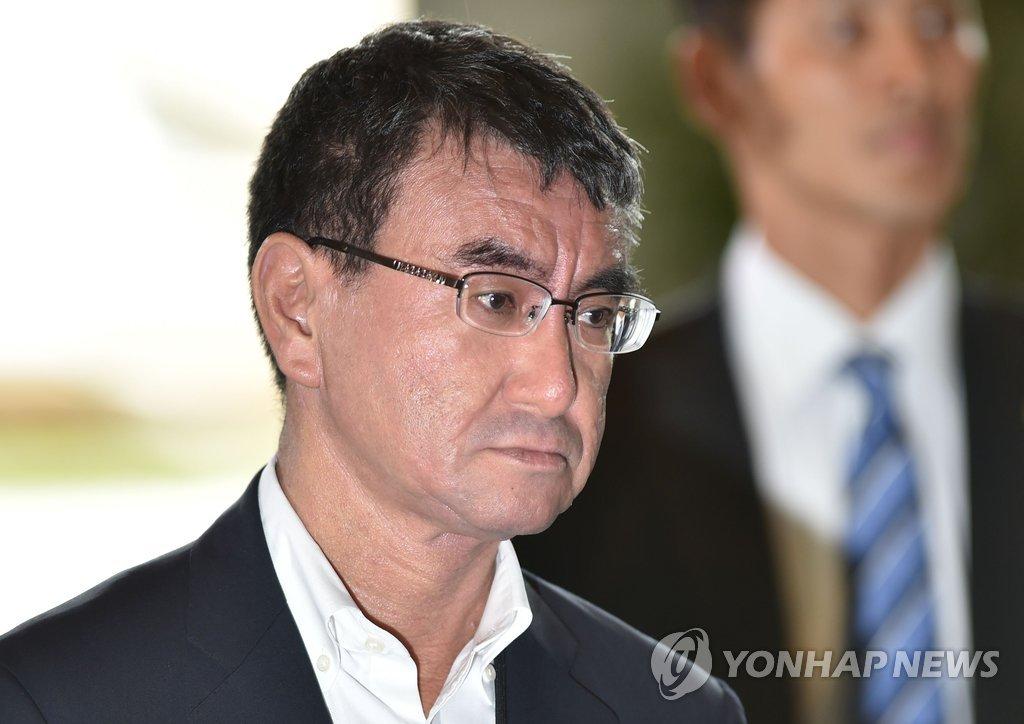 日本新任外相河野太郎(韩联社)