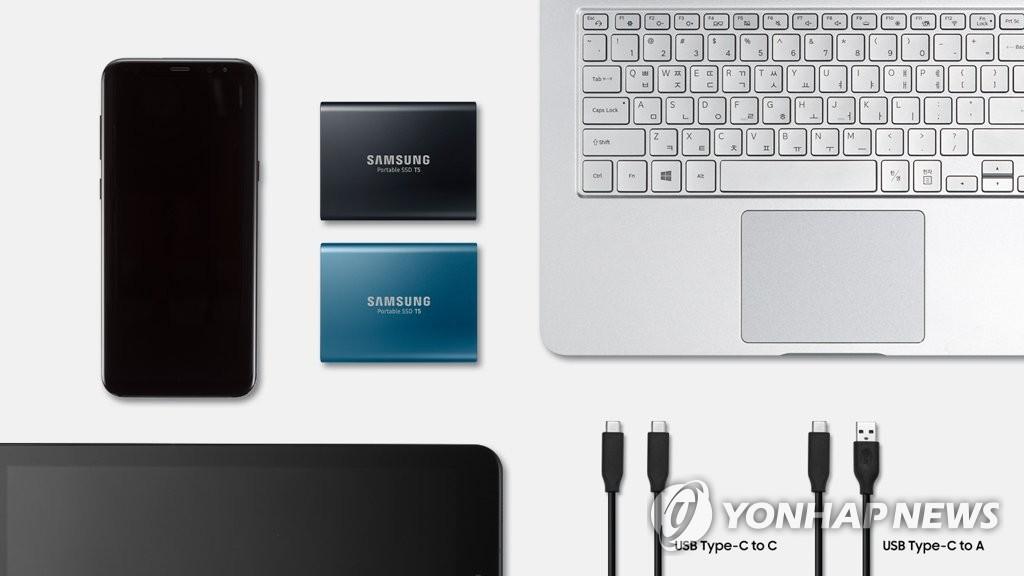 """三星推出便携式SSD新品""""T5"""""""
