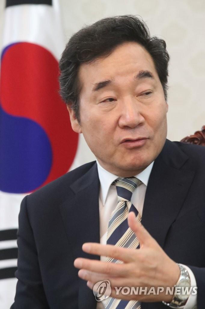 韩总理接受韩联社专访