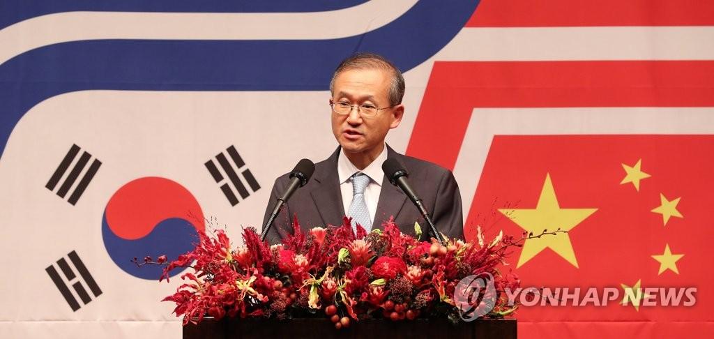 韩副外长出席中韩建交25周年招待会