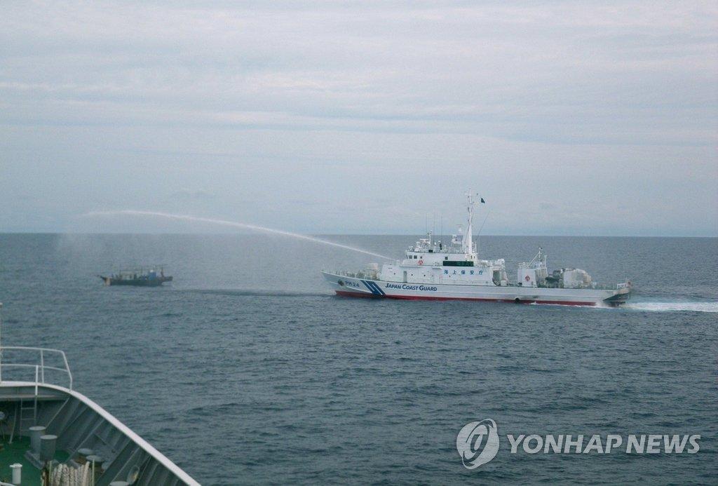 朝外务省:出于自卫驱逐日本非法侵入船只
