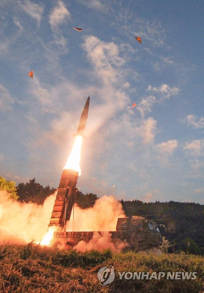 """韩军射""""玄武""""导弹警告朝鲜核试"""