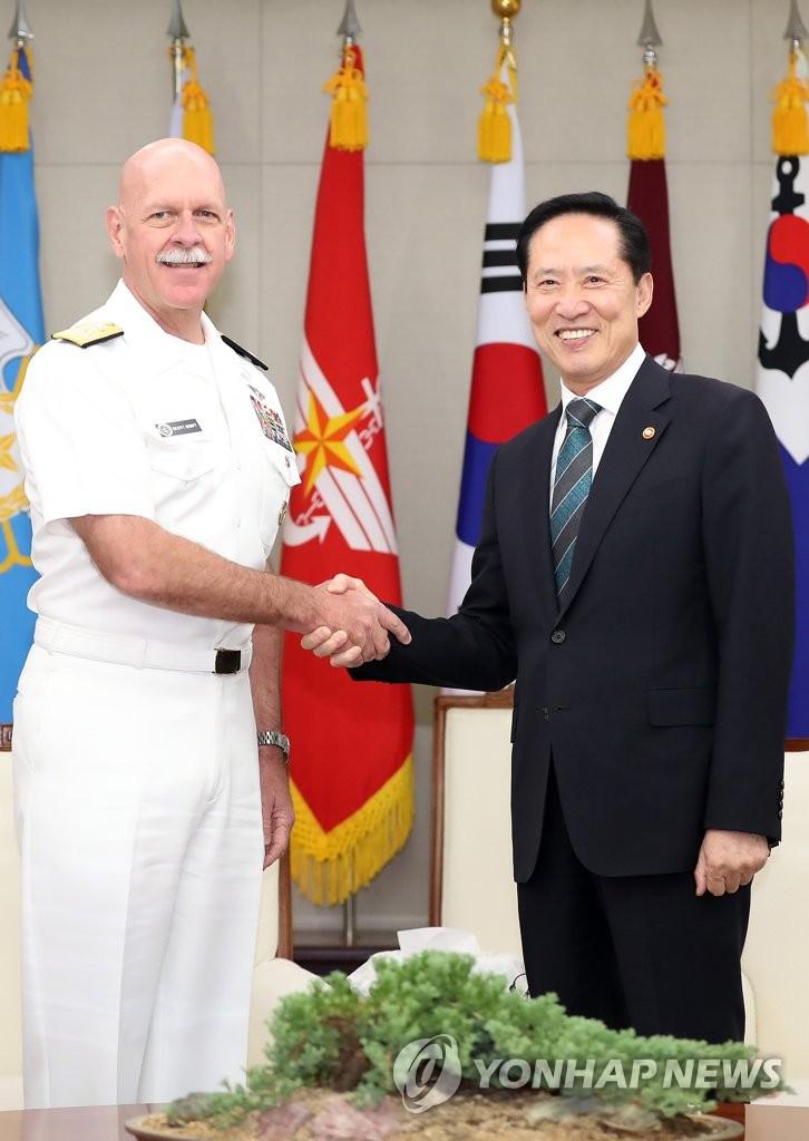 韩防长会见美太平洋舰队司令