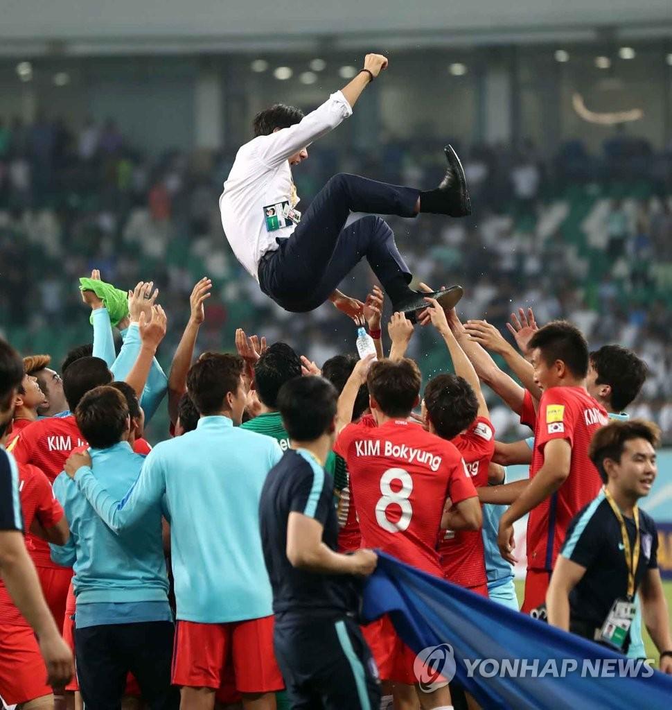 韩国足连续第9次晋级世界杯
