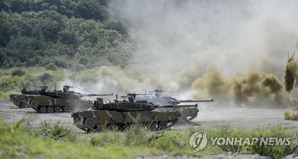 韩美海军陆战队联合演习