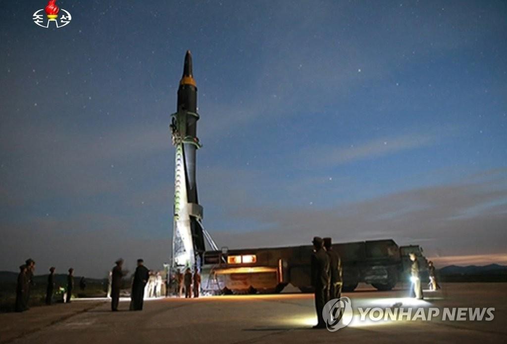 """朝媒公开发射""""火星-12""""视频"""