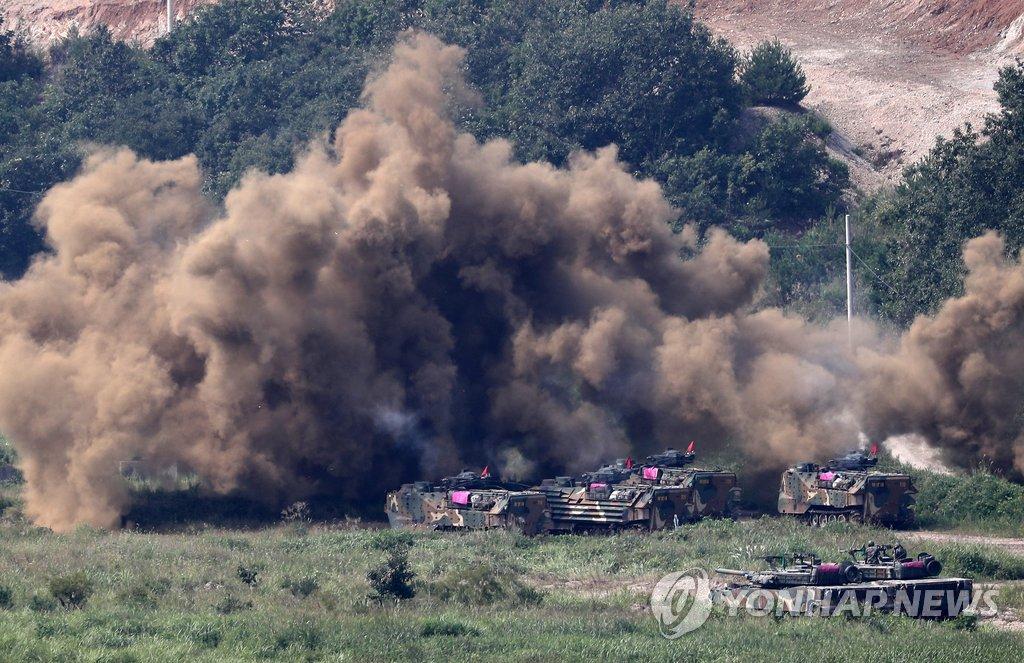 韩美海军陆战队联演明重启