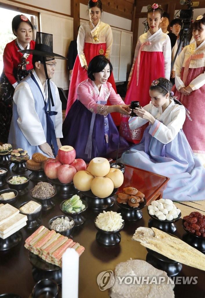 体验韩国节日祭祀礼仪