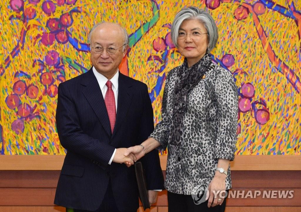 韩外长会见国际原子能机构总干事