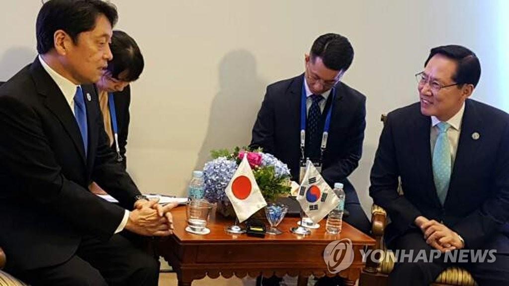 韩日防长会晤